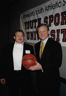 Dan with Don Shelby at the first Youth Sports University